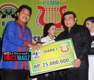Nanang Suwito memperoleh Juara 1 Lomba Cipta Lagu Dangdut Tingkat Nasional 2013